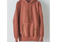 AURALEE-SUPER MILLED SWEAT P:O PARKA - Red Brown