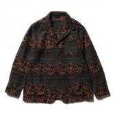 ENGINEERED GARMENTS-Loiter Jacket - Ethnic Floral Jacquard - Black : Rust