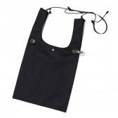nunc-3 Layered Nylon Shopping Bag - Black