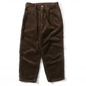 Living Concept-5POCKET WIDE CORDUROY PANTS - Brown