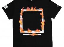 ELVIRA-BURNING FRAME T-SHIRT - Black