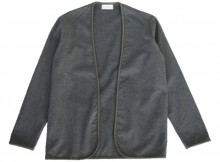 FLISTFIA-Piping Cardigan - Charcoal Gray