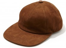 NAISSANCE-NUBUCK LEATHER CAP - Brown