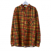 NEON SIGN-FLANNEL SHIRT UNIVERSAL CHECK - Cream Yellow