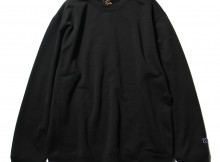Needles-Crew Sweat - Synthetic Jersey - Black