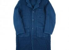 Porter Classic-KENDO LONG COAT - Blue