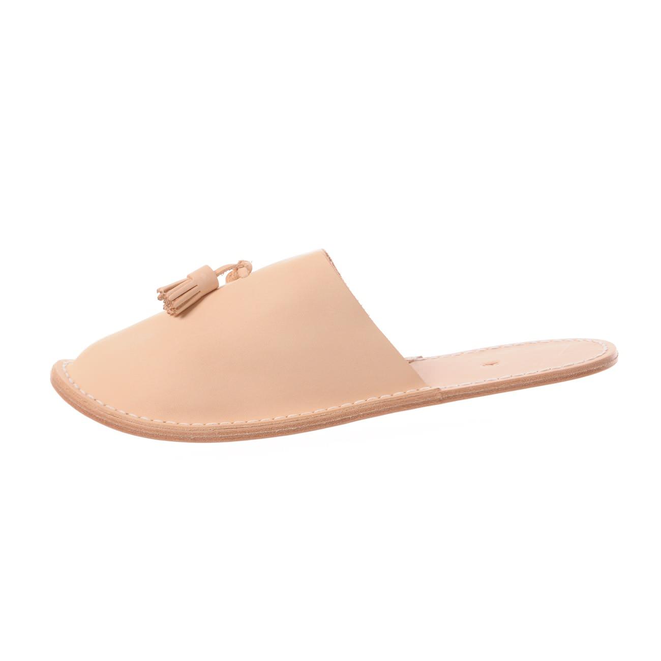 Hender Scheme - leather slipper - Natural