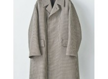 AURALEE-DOUBLE FACE CHECK LONG COAT - Hounds-Tooth Check