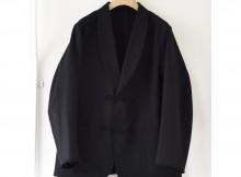 COMOLI-モールスキン スモーキングジャケット - Black