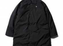 DESCENTE PAUSE-SOUTIEN COLLAR DOWN COAT - Black