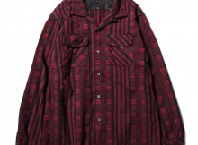 ENGINEERED GARMENTS-Classic Shirt - Ethnic St. Jacquard - Red : Black