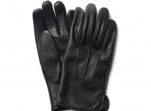 LEATHER & SILVER MOTO-GV2 グローブ (メンズ) - Black