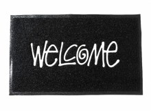STUSSY-PVC Welcome Mat - Black