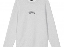 STUSSY-Stock App. Crew - Grey Heather