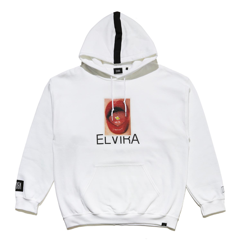 ELVIRA - ACID HOODY - White