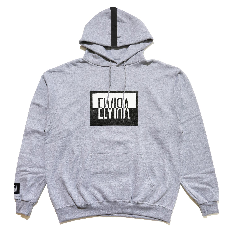 ELVIRA - REVERSAL BOX HOODY - Grey