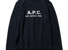 A.P.C.-SWEAT JEREMIE RUE MADAME emb 19PC JPS - Navy