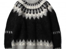 BATONER-MOHAIR NORDIC CREW NECK 3colors (メンズ) - Black