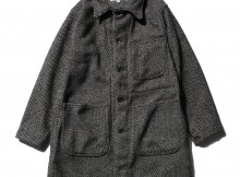 ENGINEERED GARMENTS-EG Workaday Shop Coat - Tri Blend Wool Tweed - Grey