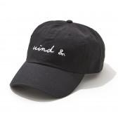 WIND AND SEA-CAP E - Black