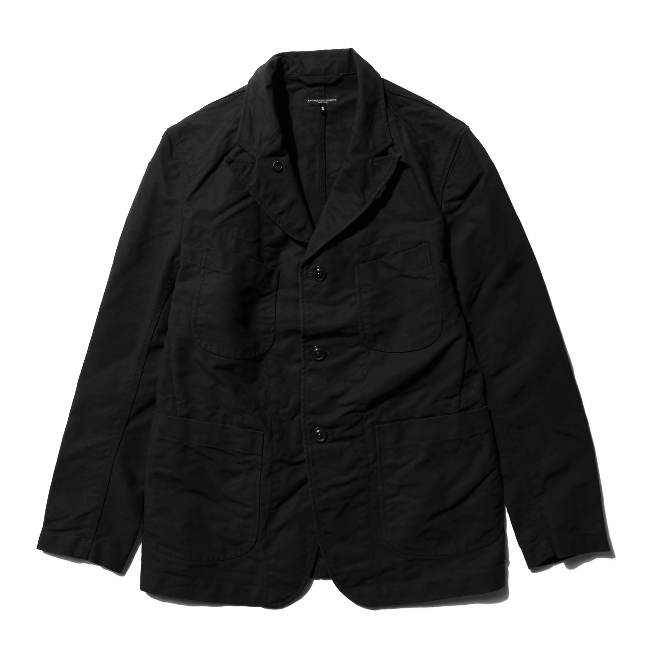 ENGINEERED GARMENTS - Bedford Jacket - Cotton Double Cloth - Black