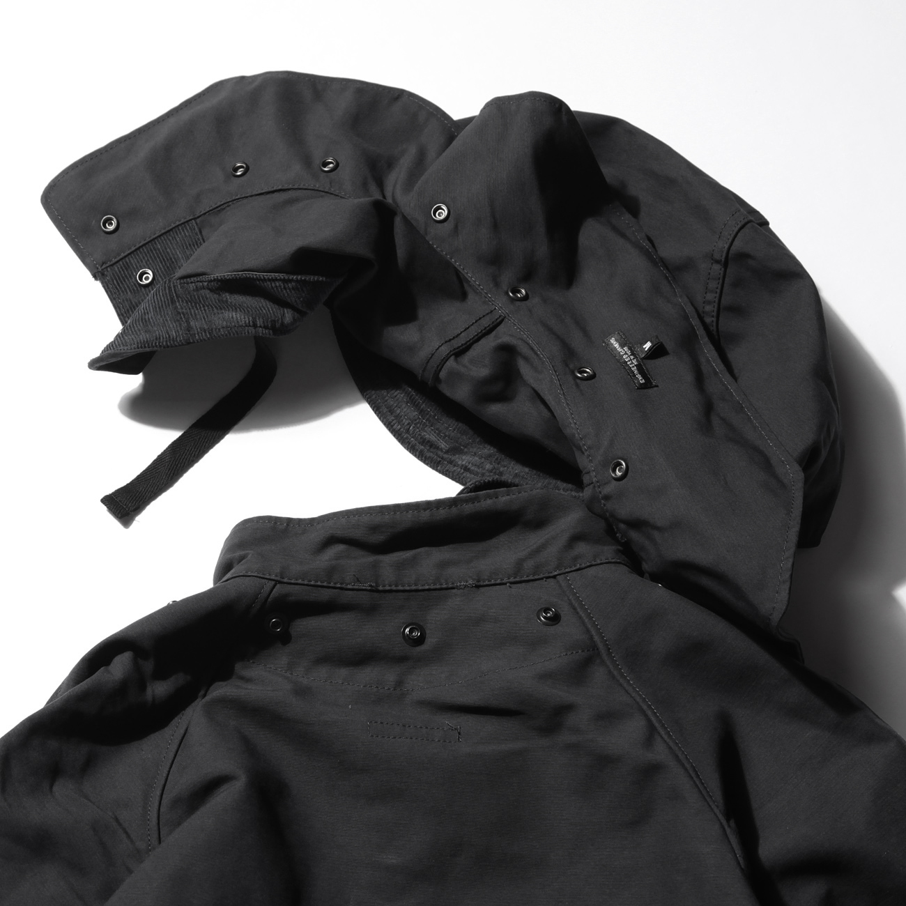 ENGINEERED GARMENTS - Riding Coat - Cotton Double Cloth - Black