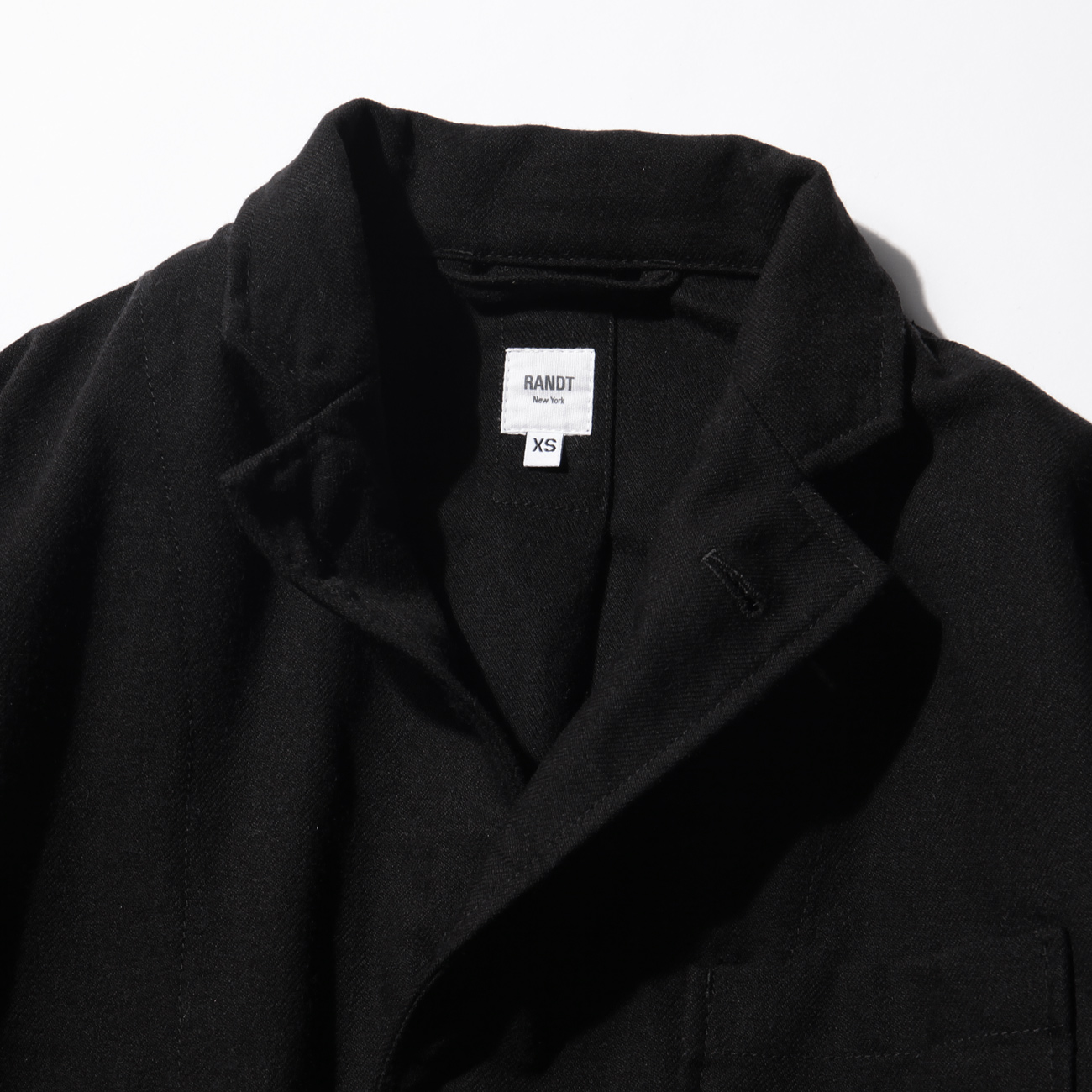 RANDT - Studio Jacket - Wool Acrylic Serge - Black