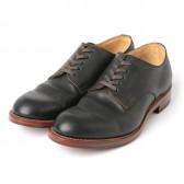LEATHER & SILVER MOTO-Plain Toe Oxford Shoes #2100 - コードバン外羽根 - Black