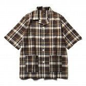 Needles-Cabana Shirt - C:L Cloth : Plaid - Brown : White