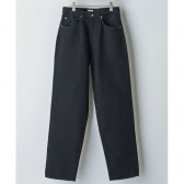 AURALEE-HARD TWIST DENIM WIDE PANTS - Black