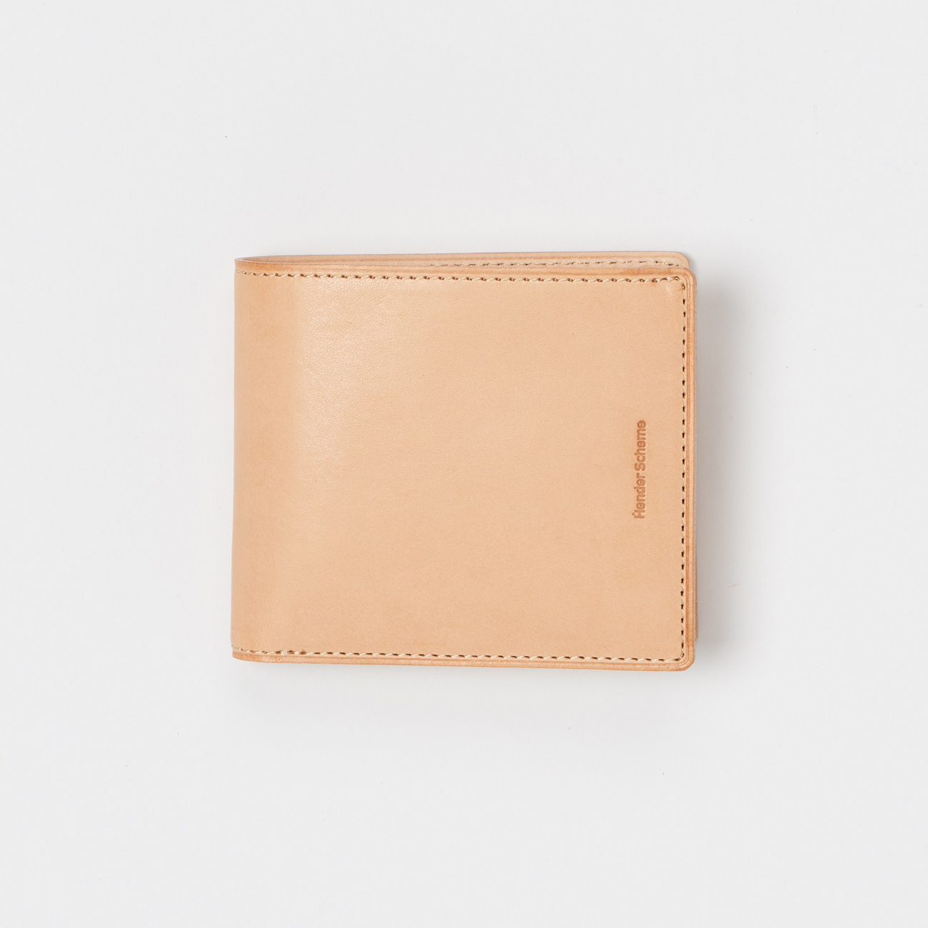 Hender Scheme - half folded wallet - Natural