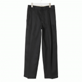 NEON SIGN-WIDE WORK SLACKS - Black