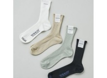 AURALEE-GIZA HIGH GAUGE SOX
