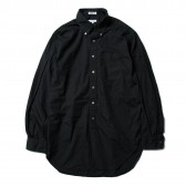 ENGINEERED GARMENTS-19th BD Shirt - Superfine Poplin - Black