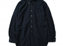 ENGINEERED GARMENTS-19th BD Shirt - Superfine Poplin - Dk.Navy