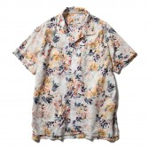 ENGINEERED GARMENTS-Camp Shirt - Botany Printed Lawn - White
