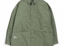 FreshService-Tool Pocket Regular Collar Utility Shirt - Khaki