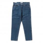 Living Concept-5POCKET TAPERED DENIM PANTS : BIO WASH - B.Blue