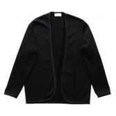 FLISTFIA-Piping Cardigan - Black