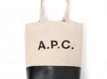 A.P.C.-Axel ショッピングバッグ - Black