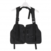 NEON SIGN-CHEST BAG - Black