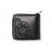 Needles-Carving Sigle Wallet - Black