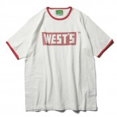 WESTOVERALLS-WESTS RINGER T-SHIRTS - White : Red