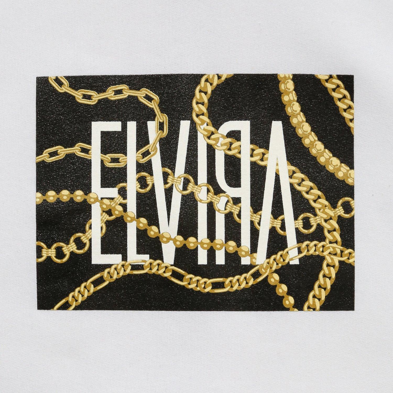 ELVIRA / エルビラ - CHAIN BOX HOODY - White