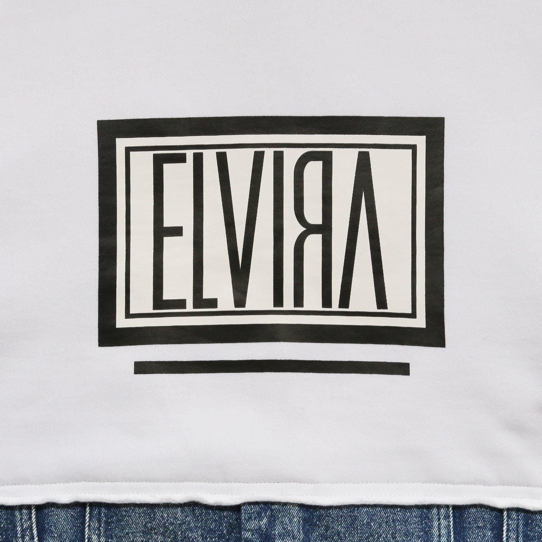 ELVIRA / エルビラ - HALF DENIM BOX HOODY - White