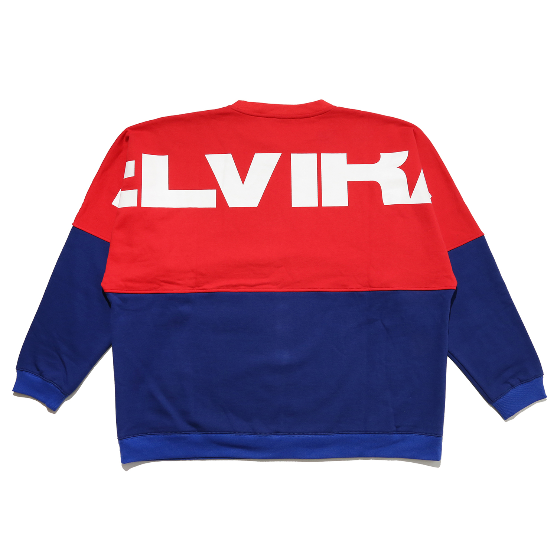 ELVIRA / エルビラ - 2TONE DOLMAN CREW - Red × Blue