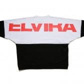 ELVIRA-2TONE DOLMAN CREW - White × Black