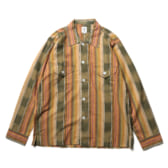 South2-West8-Smokey-Shirt-Cotton-Cloth-Ikat-Pattern-GrnBgeBrd-168x168