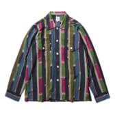 South2-West8-Smokey-Shirt-Cotton-Cloth-Ikat-Pattern-NvyRedGrn-168x168
