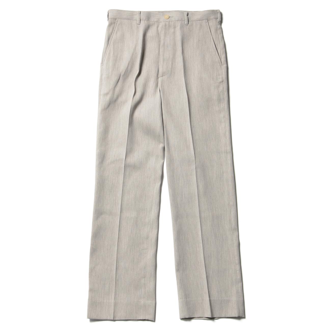 AURALEE オーラリー COTTON WOOL DOUBLE CLOTH SLACKS - Yaku Top Gray